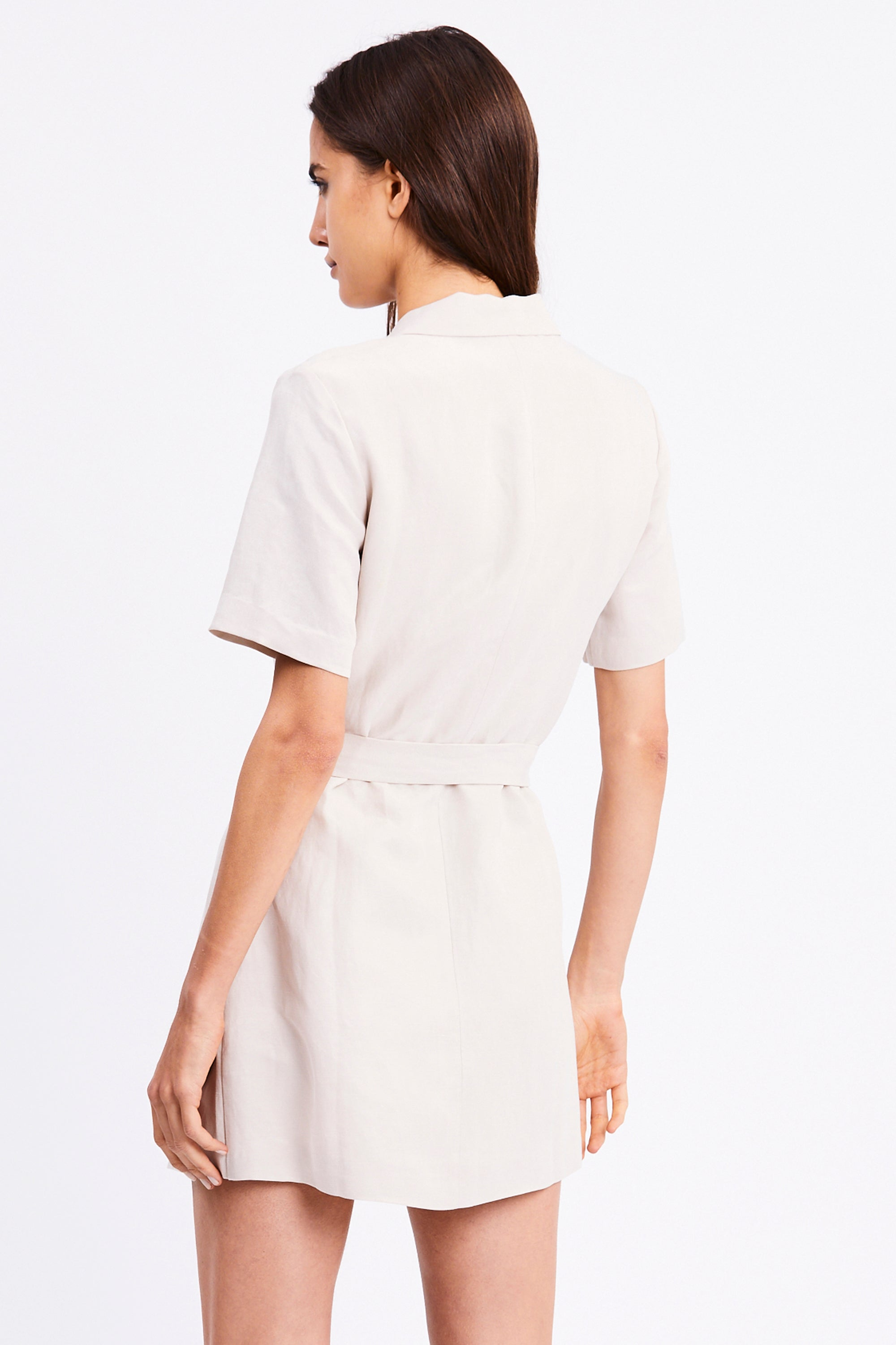 TCB BLAZER DRESS | BONE