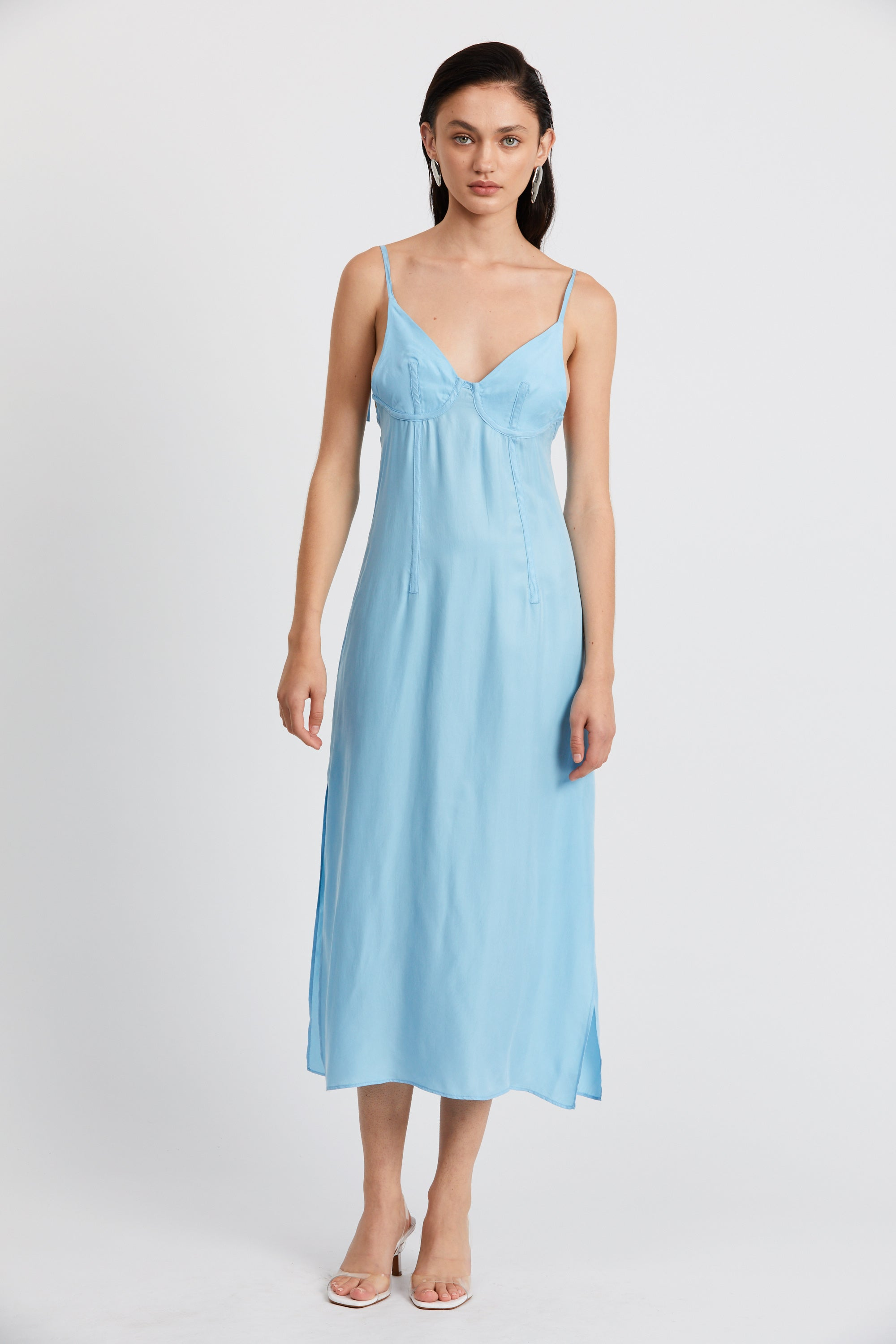 CORSET CAMI SLIP DRESS | SEA