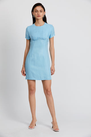 CORSET MINI TEE DRESS  | SEA