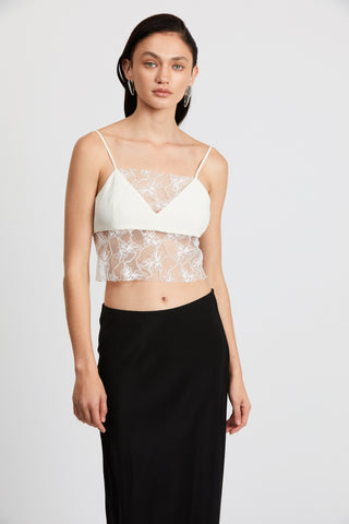 LOOK IN LACE CAMI | CREAM