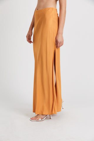 ROMANCER BIAS MAXI SKIRT | HONEY