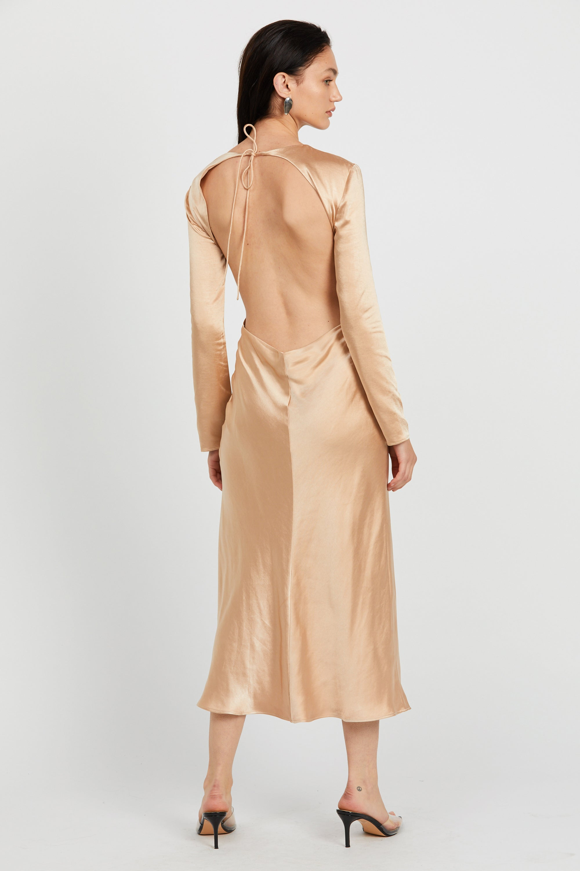 WILD FLOWERS BIAS MAXI | ROSE GOLD