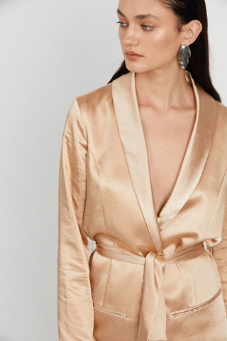WILD FLOWERS ROBE BLAZER | ROSE GOLD