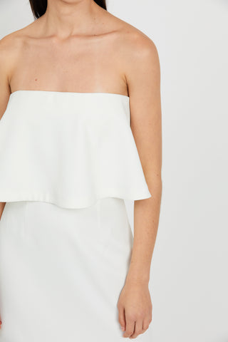 DOUBLE UP STRAPLESS MINI | OFF WHITE