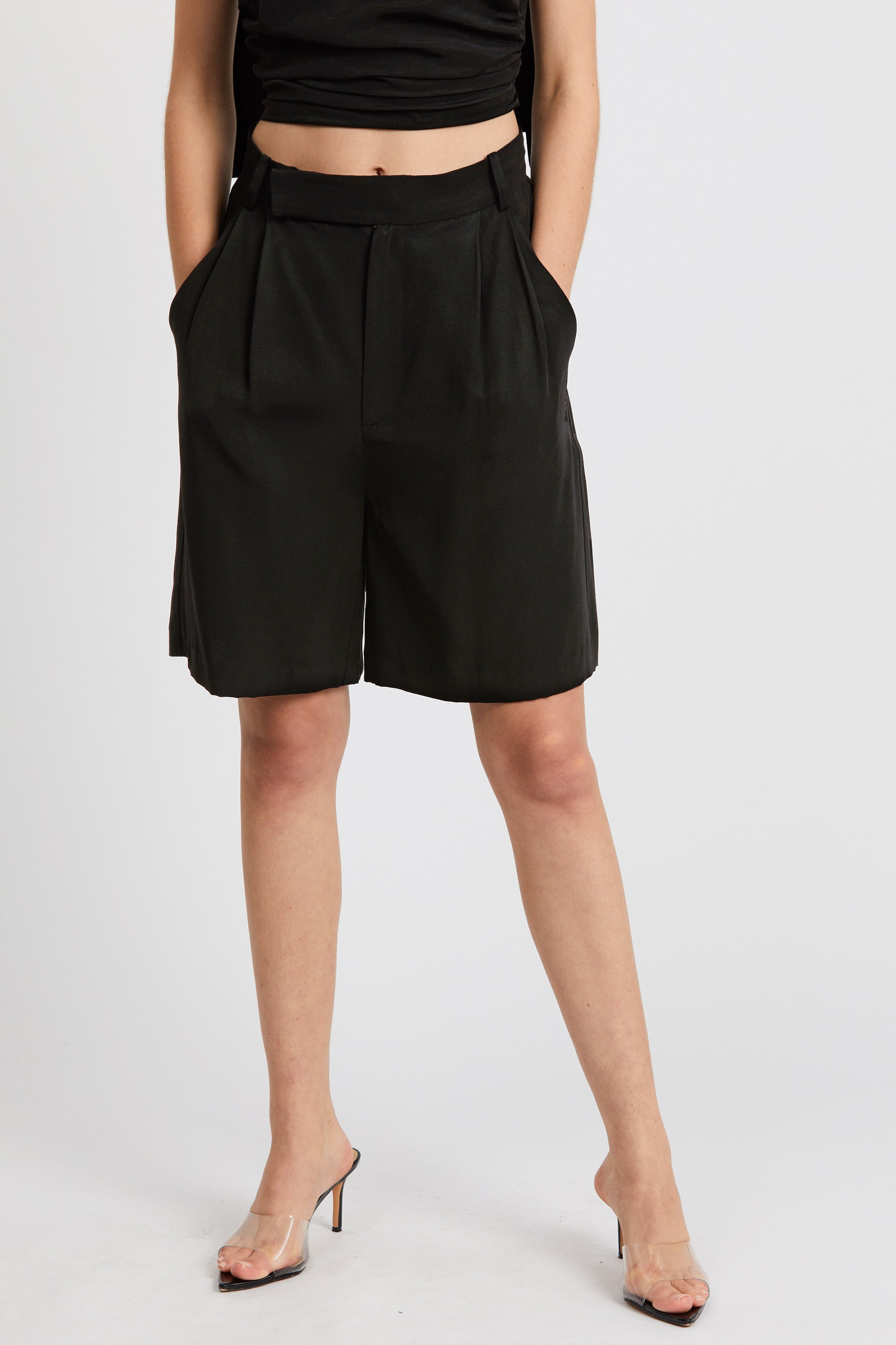 LE MODE BERMUDA SHORT | BLACK