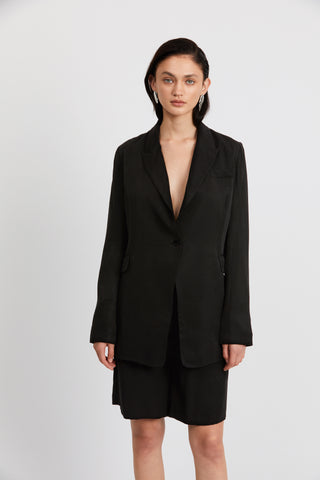 LE MODE LONGLINE BLAZER | BLACK