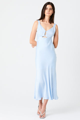 INTRIGUE BIAS SLIP DRESS | SEA FOAM