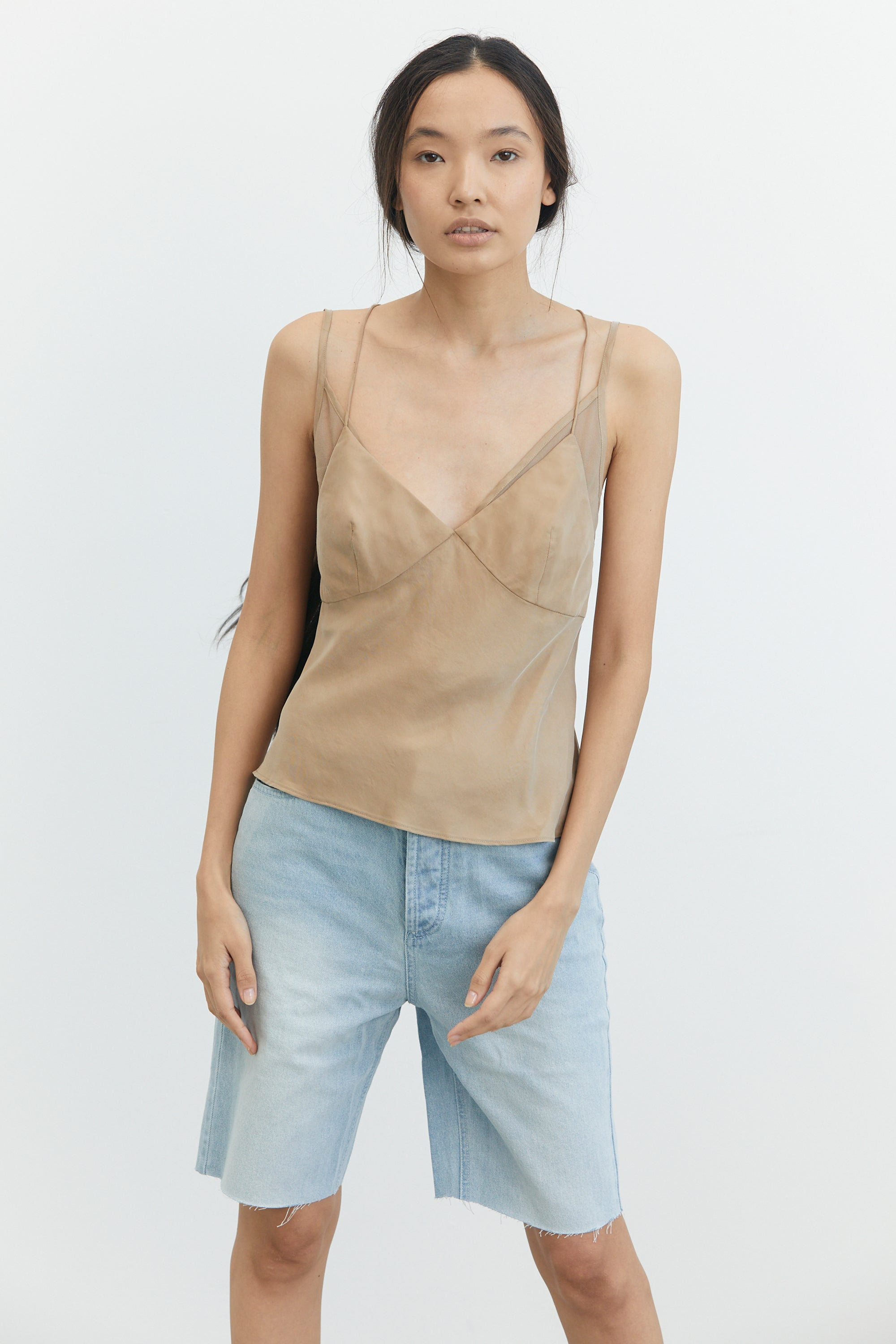 SHADOW PLAY BIAS CAMI | CLAY