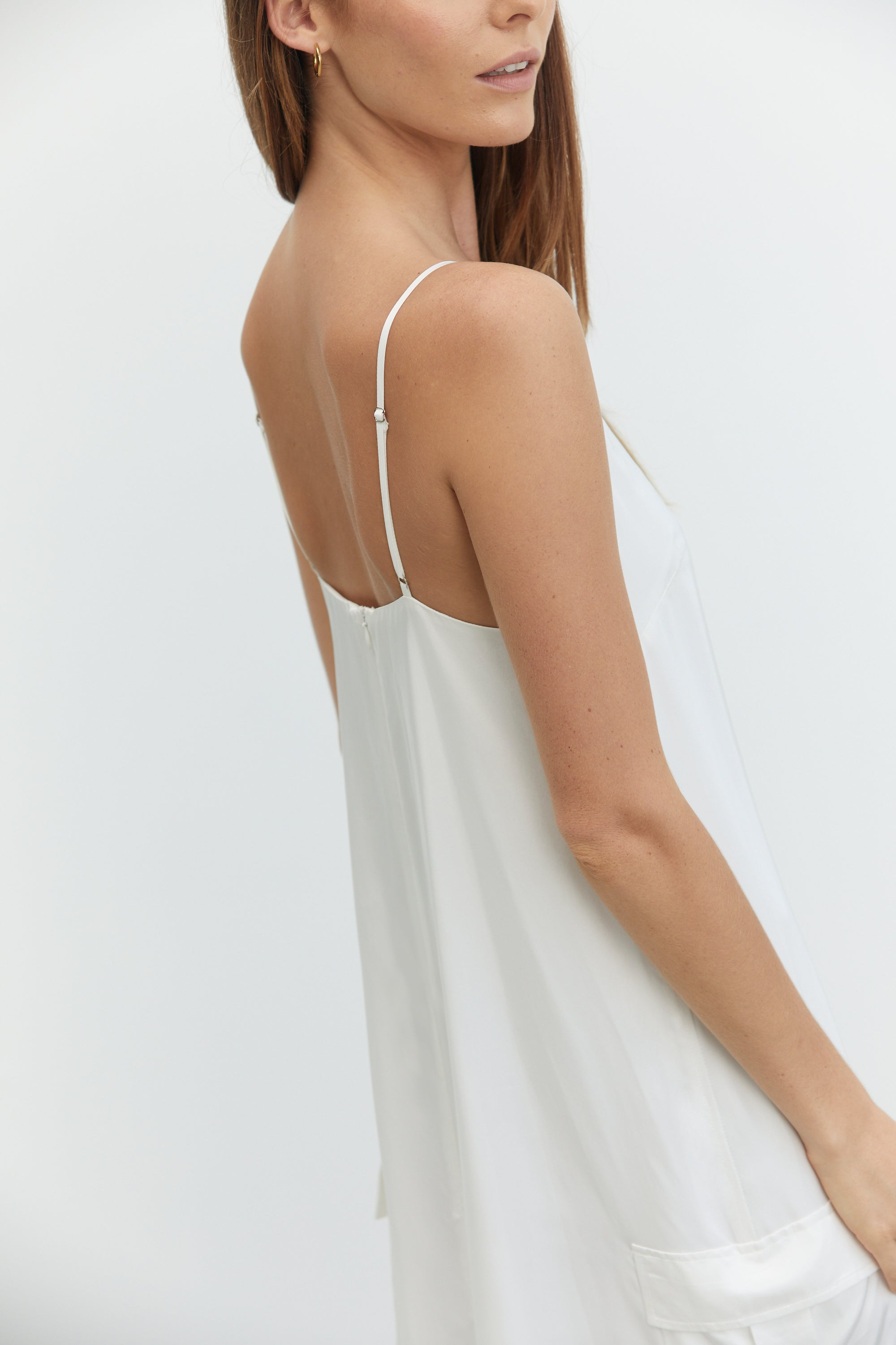 LIFT OFF MAXI SLIP DRESS | OFF WHITE