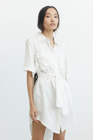 LIFT OFF SHIRT DRESS | OFF WHITE