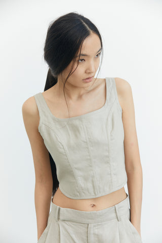TAPPER IN CORSET CAMI | PEBBLE