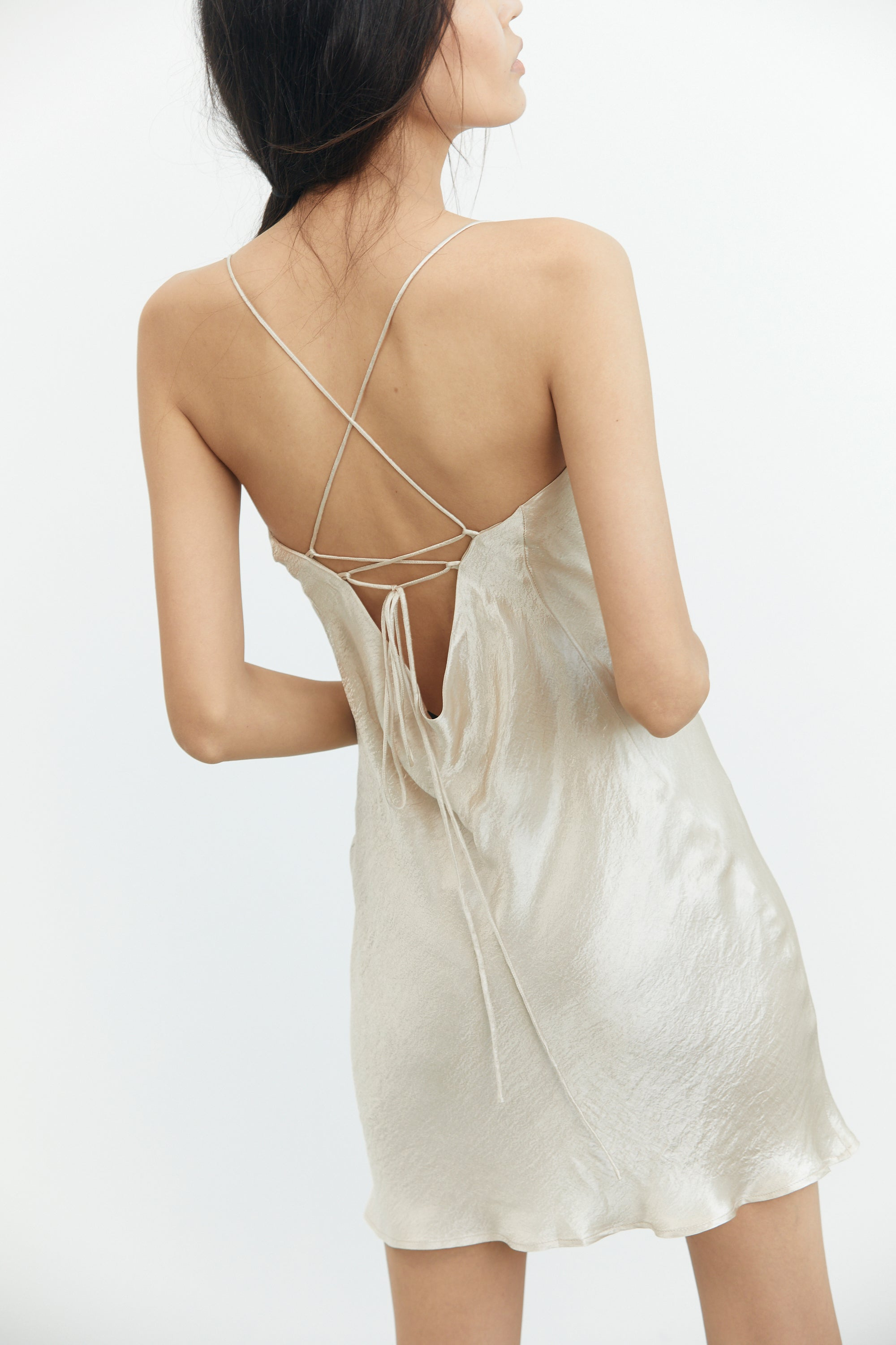RIVER BED BIAS LACE BACK MINI | SAND