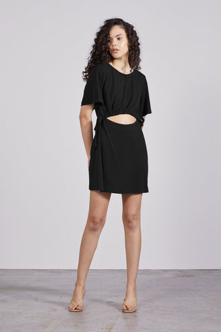 PULL IN TEE DRESS | BLACK