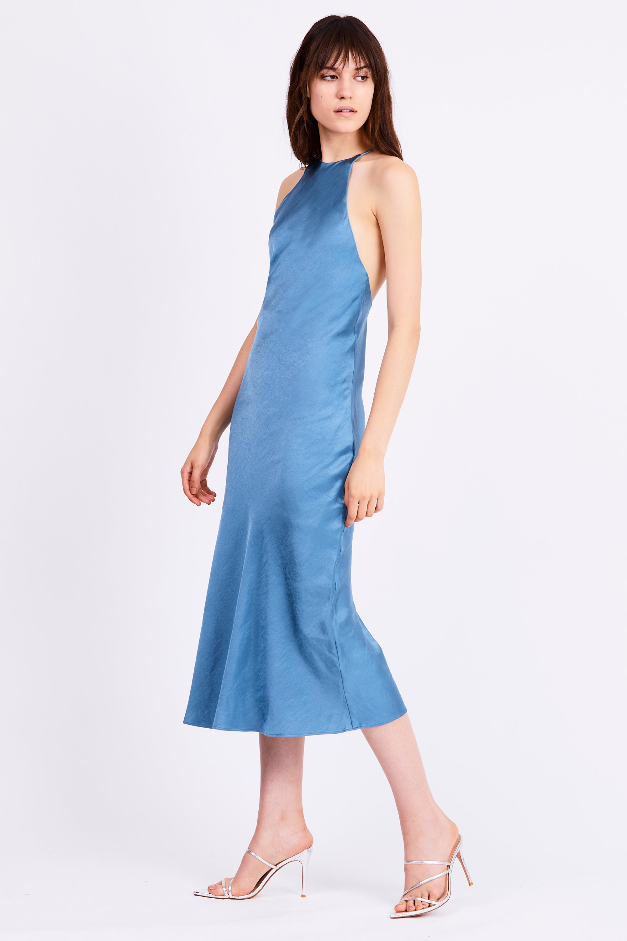 BIAS HIGH NECK DRESS | AGEAN