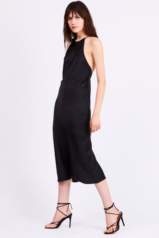 BIAS HIGH NECK DRESS | BLACK