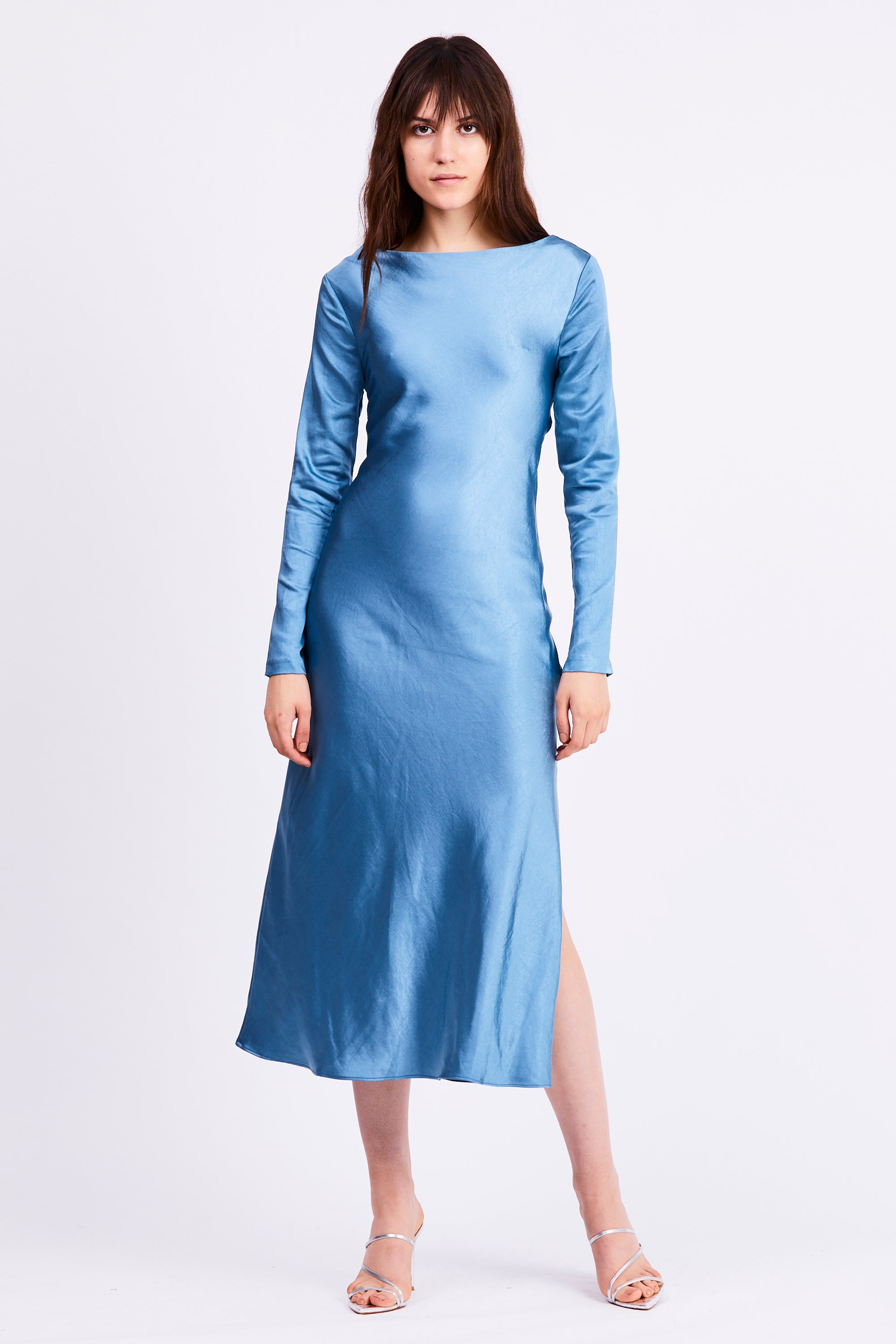 TIE BACK MAXI BIAS DRESS | AGEAN