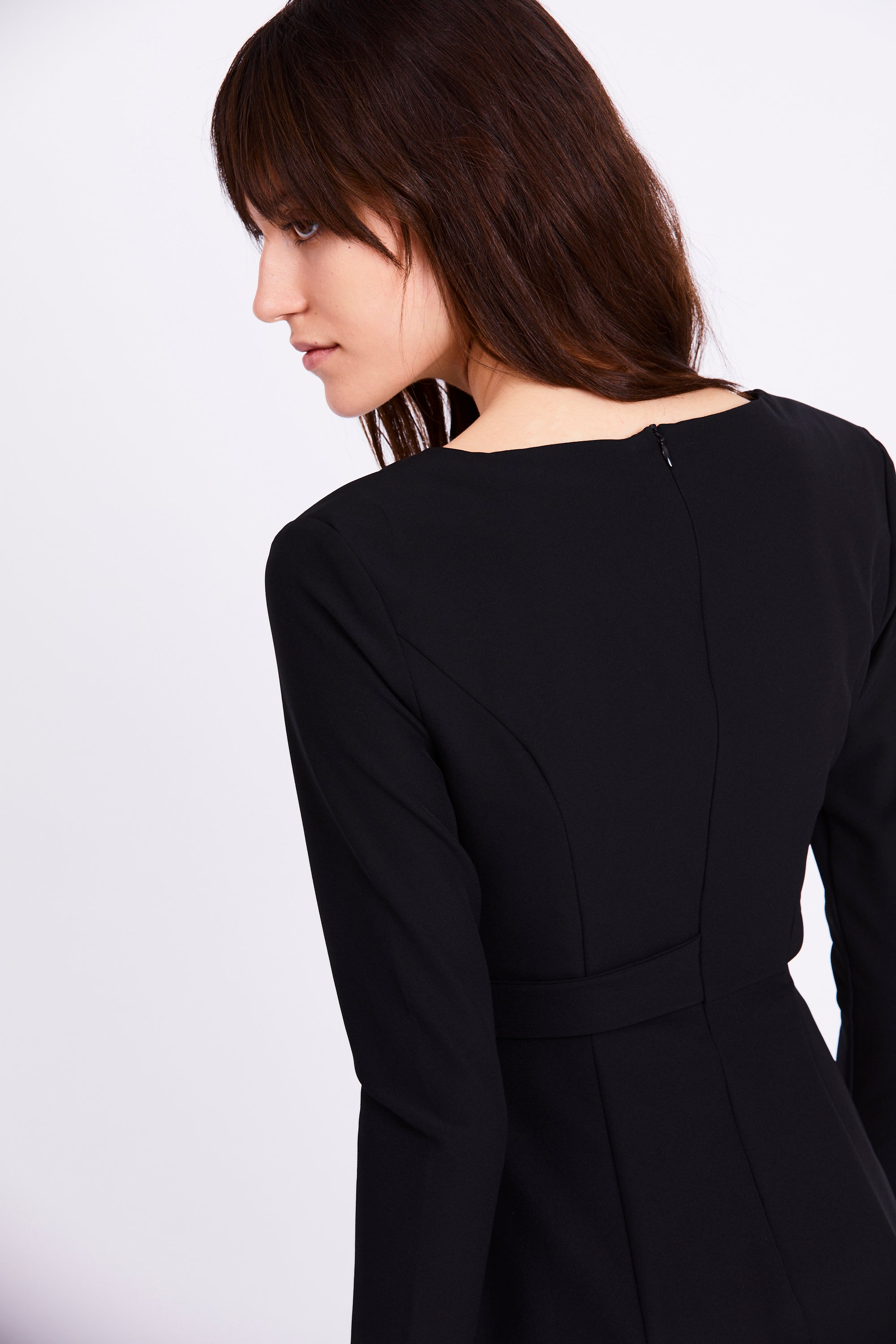 FEED THROUGH BLAZER DRESS | BLACK