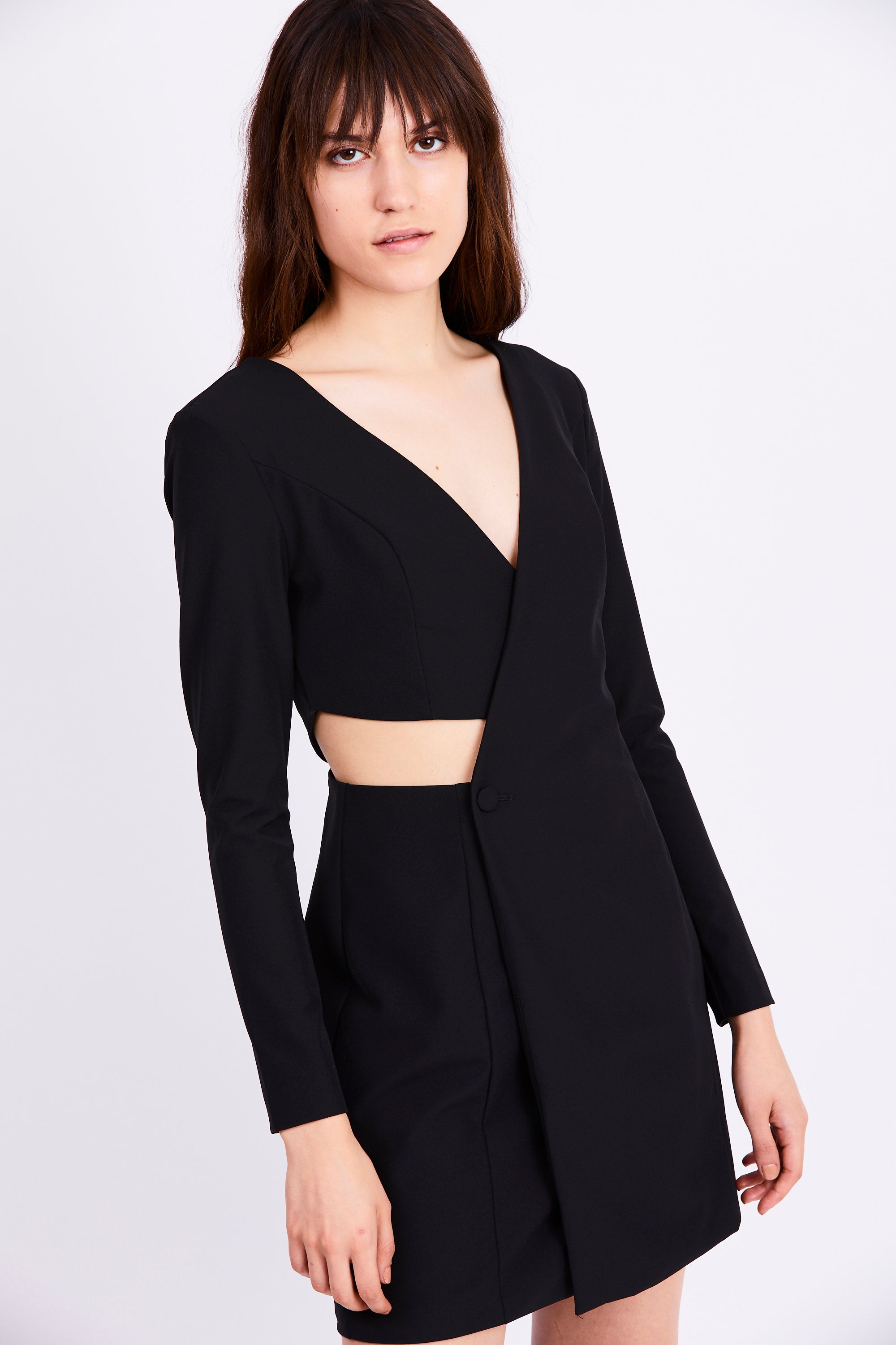 bdeeac6c661c FEED THROUGH BLAZER DRESS | BLACK