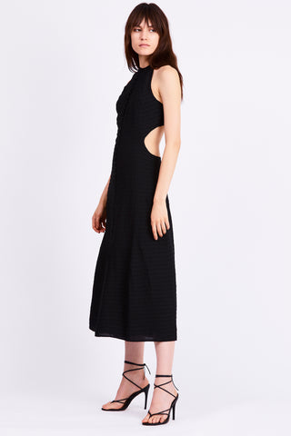 DAY BREAK MAXI DRESS | BLACK STRIPE