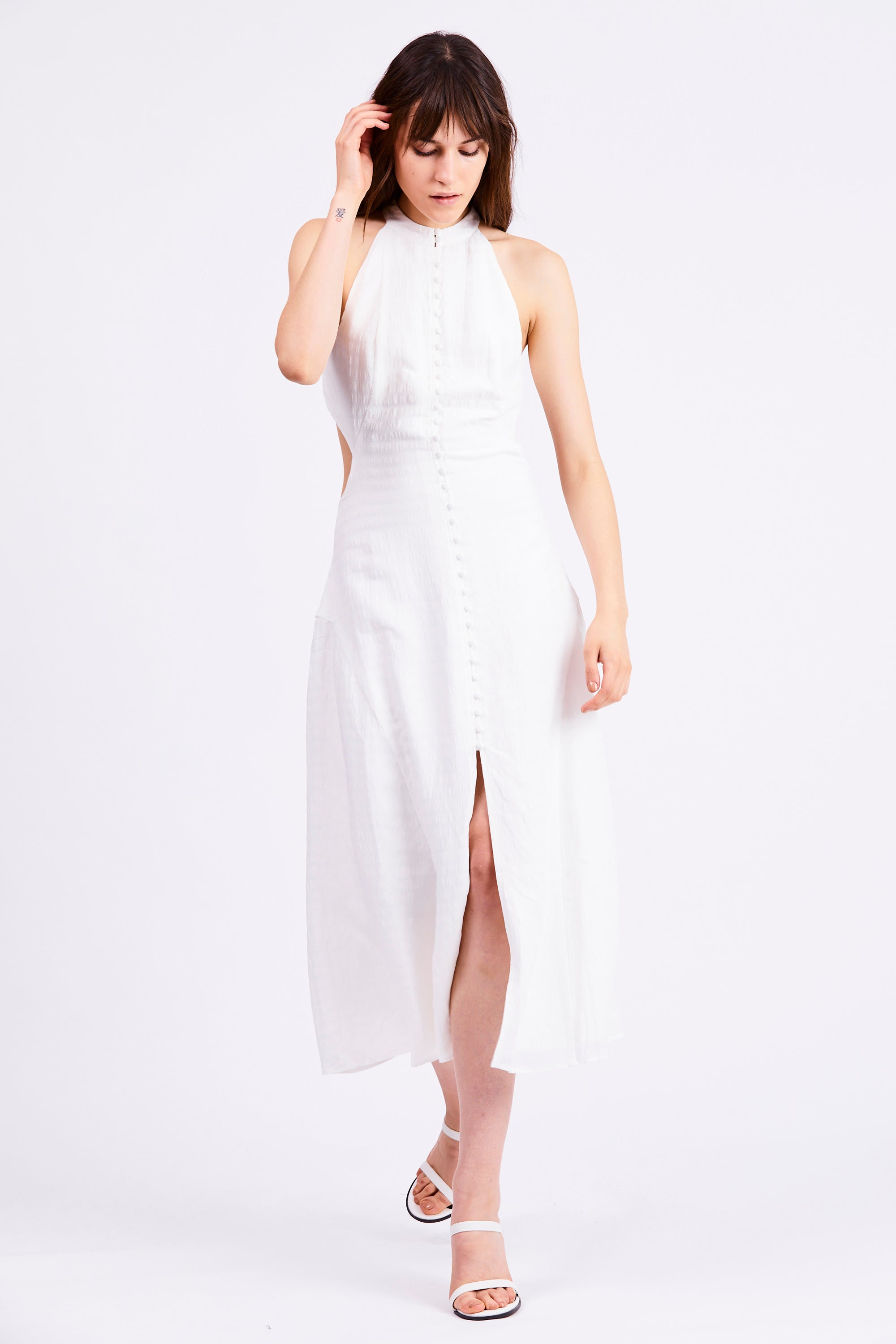 DAY BREAK MAXI DRESS | WHITE STRIPE