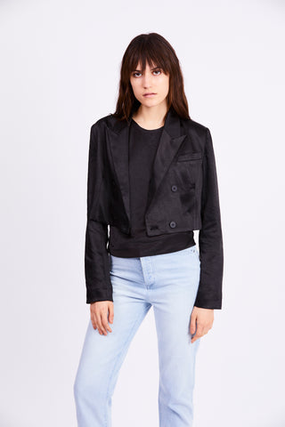 BOSS CROP BLAZER | BLACK