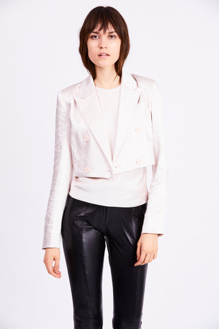 BOSS CROP BLAZER | PEARL