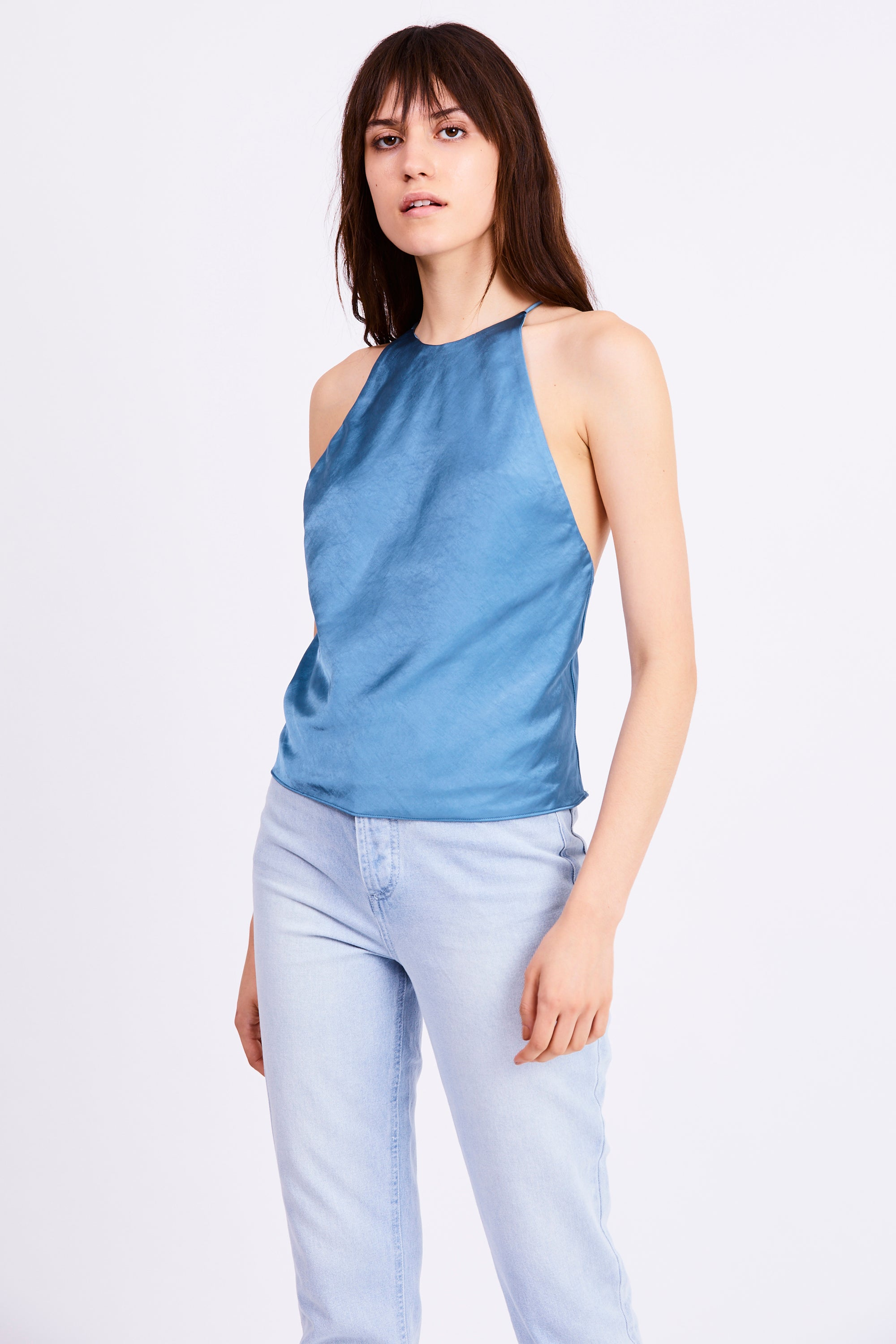 BIAS HIGH NECK CAMI | AGEAN