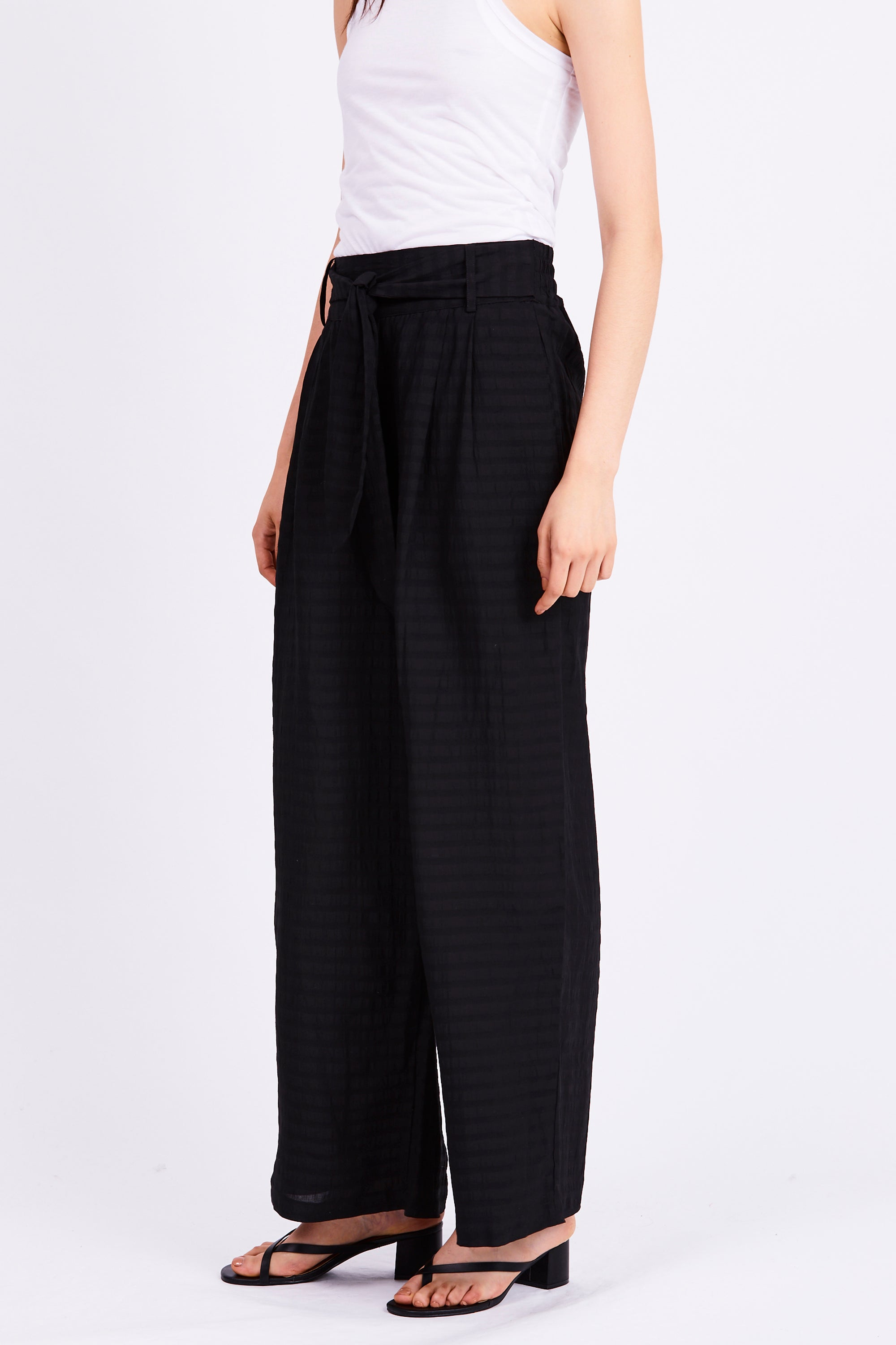 DAY BREAK TIE TROUSER | BLACK STRIPE