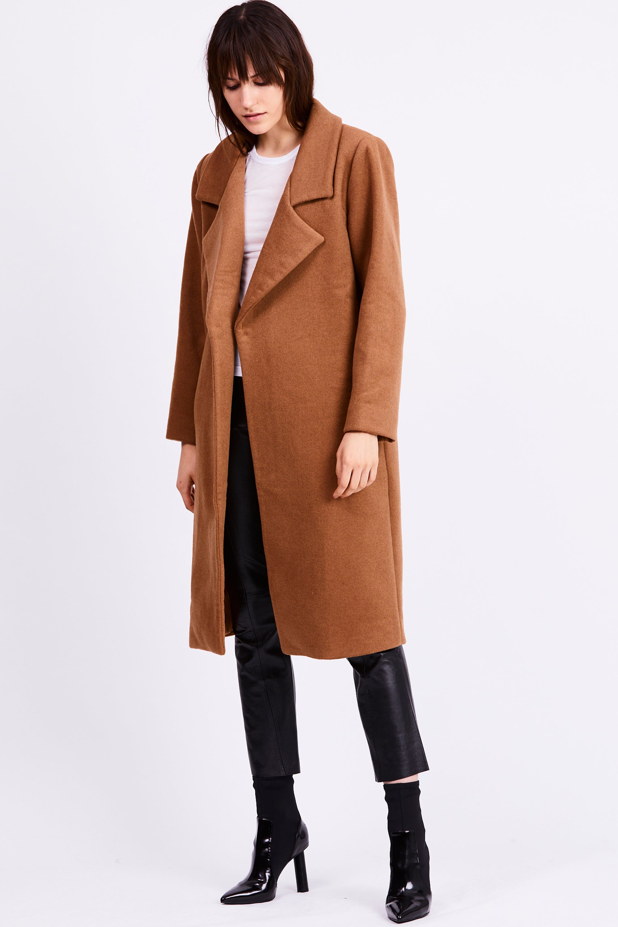 UNDER COVER COAT | CAMEL