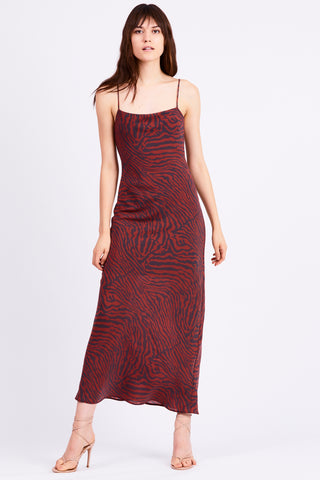 JUNGLE BEATS BIAS SLIP DRESS | ZEBRA