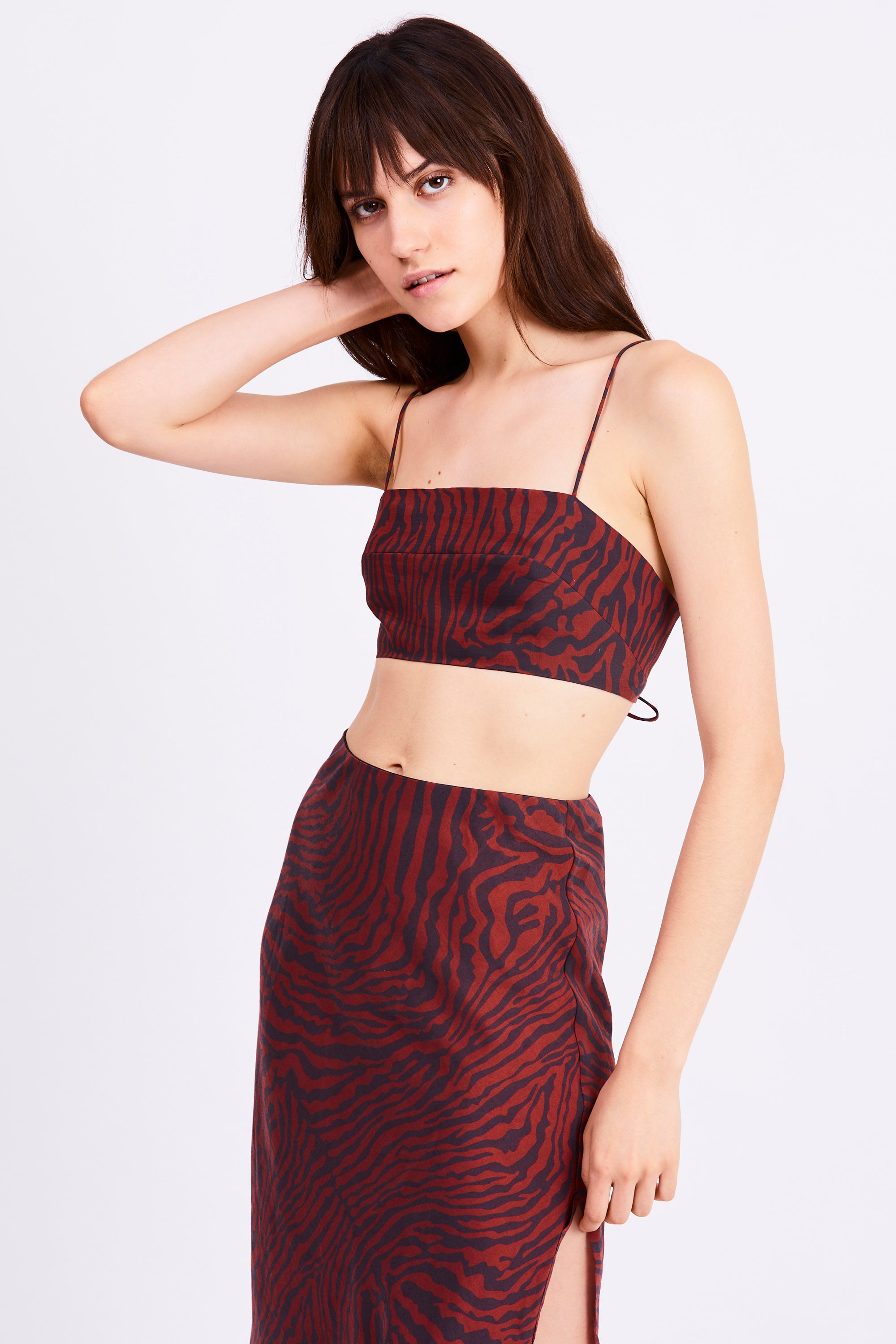 JUNGLE BEATS LACE UP CAMI | ZEBRA
