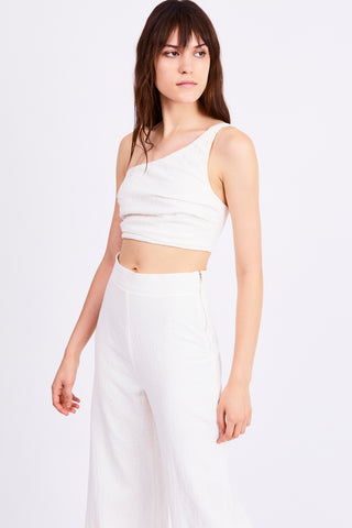 DRIFTER ONE SHOULDER TOP | WHITE
