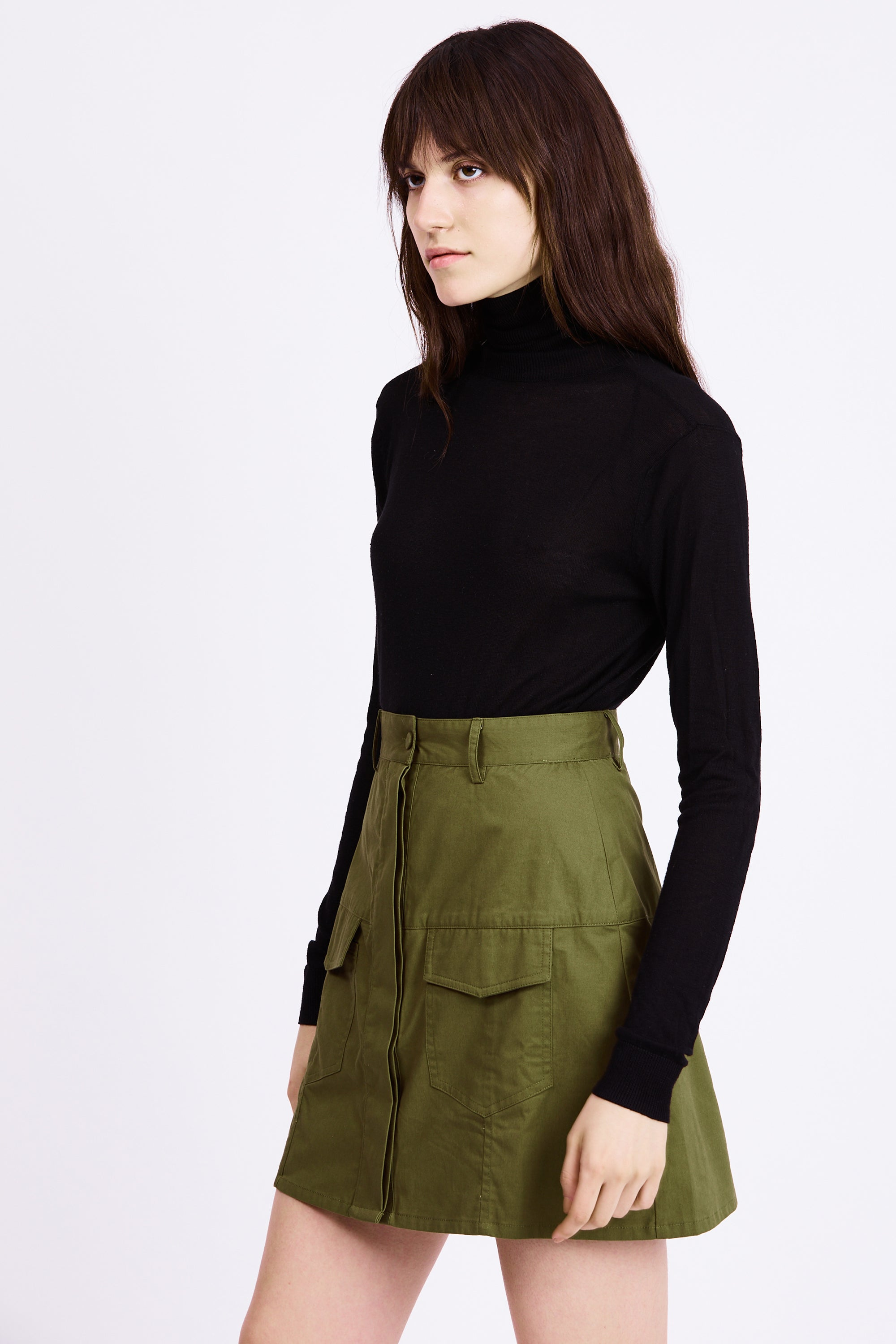 POCKET MINI SKIRT | ARMY