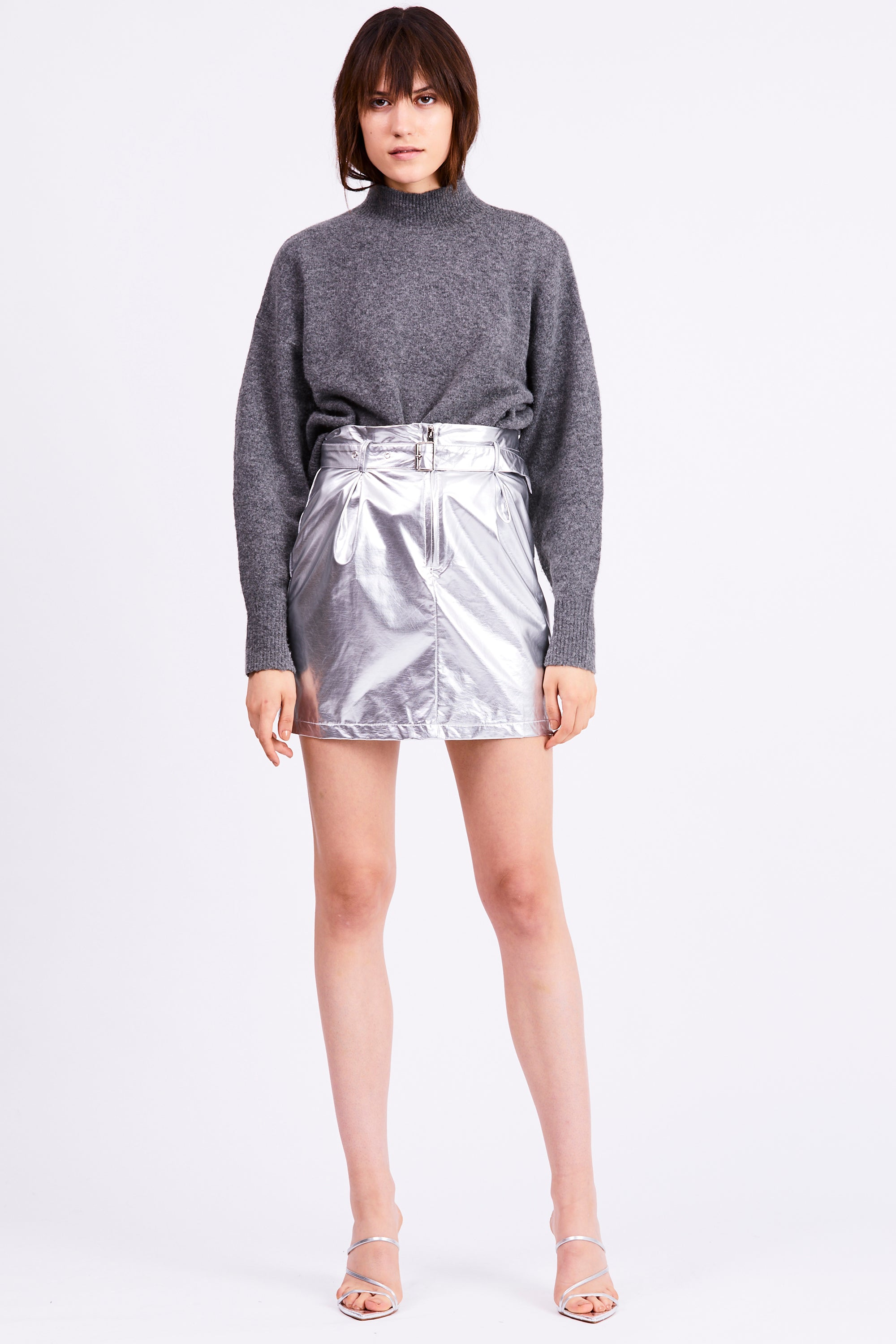 SILVER SURFER MINI SKIRT | SILVER