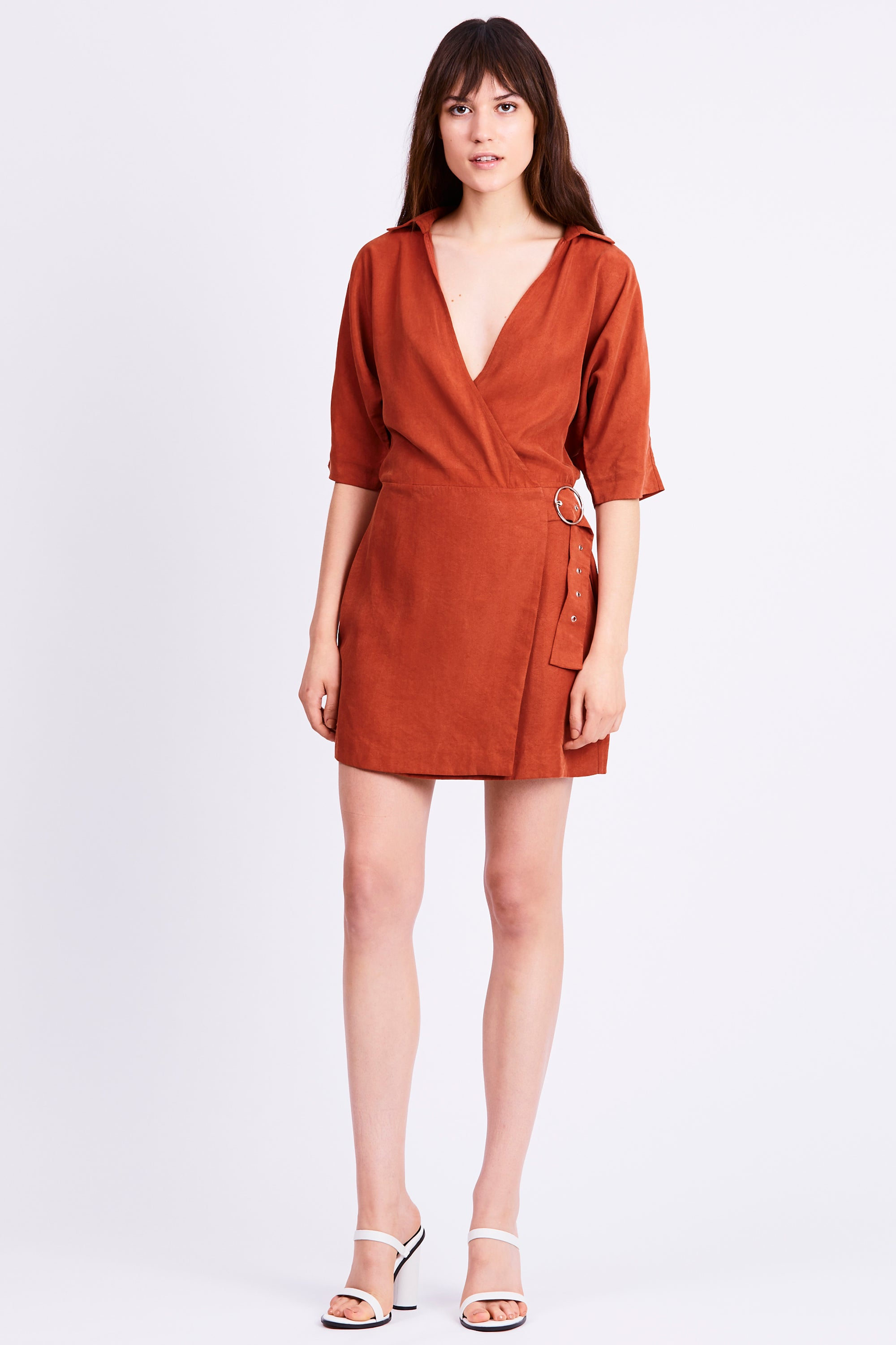 ECLIPSE WRAP DRESS | ROSEWOOD