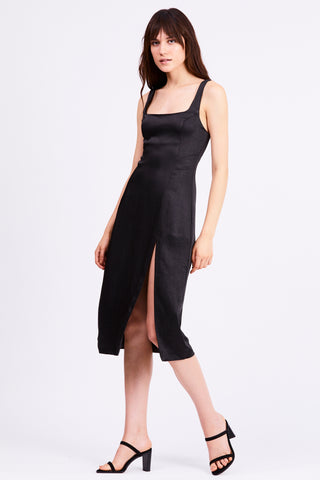 FINAL SAY SPLIT DRESS | BLACK