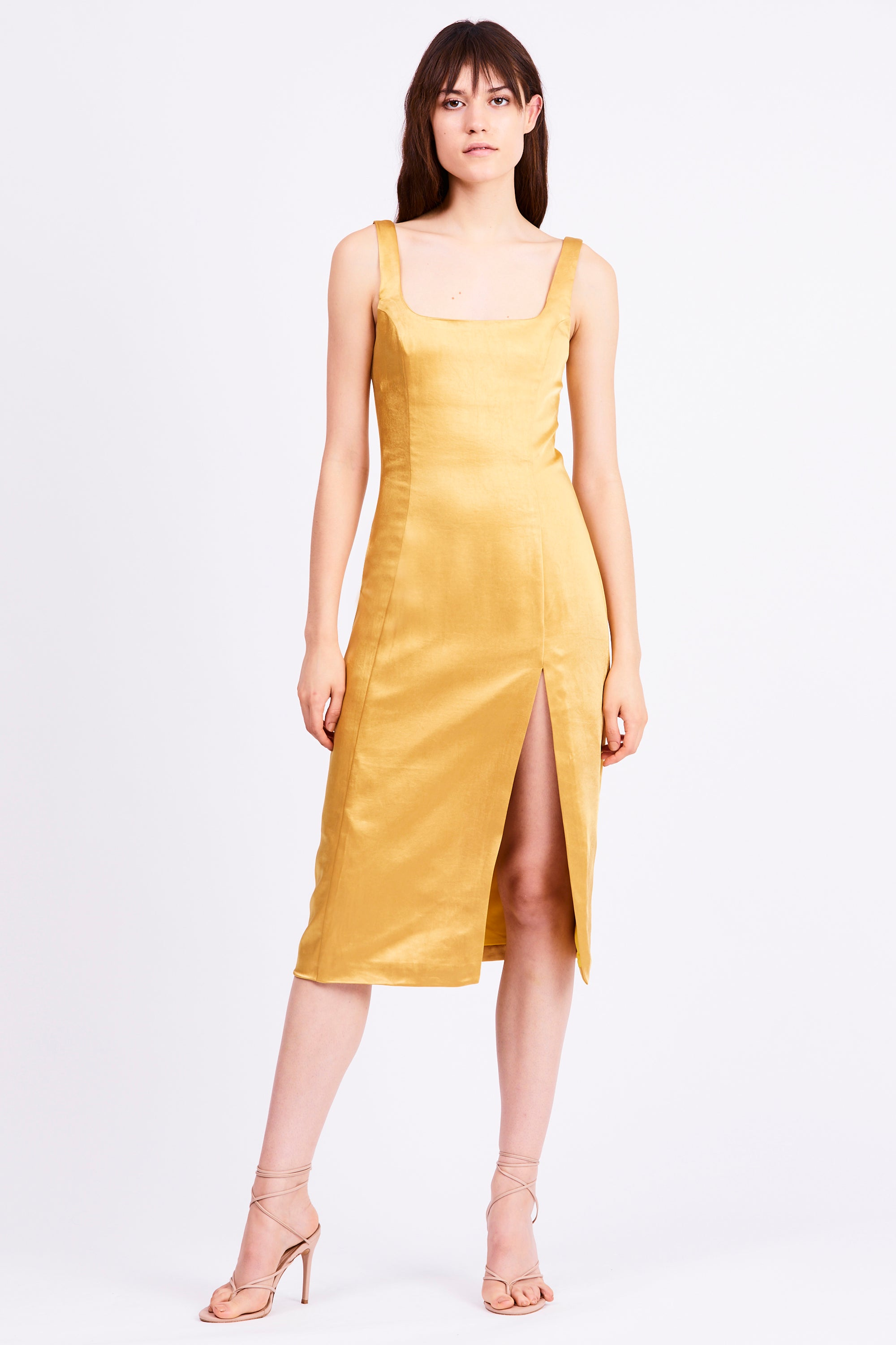 FINAL SAY SPLIT DRESS | CANARY