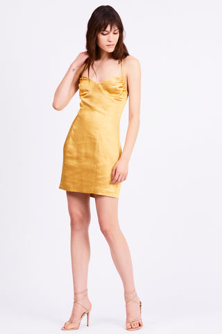 FINAL SAY MINI DRESS | CANARY