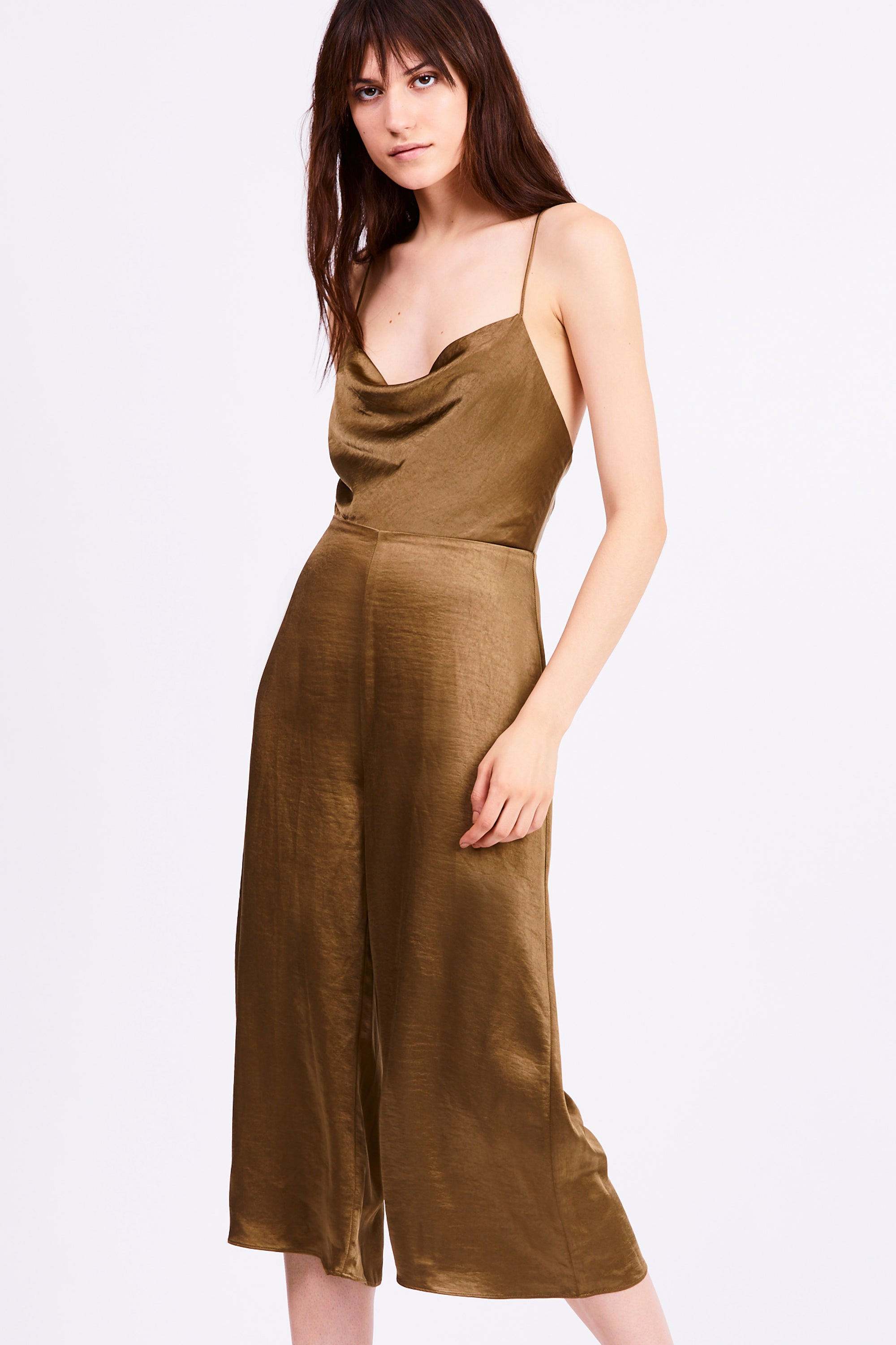 FINAL SAY BIAS JUMPSUIT | BRASS