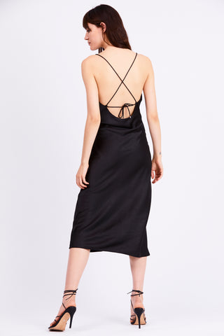 FINAL SAY BIAS SLIP DRESS | BLACK
