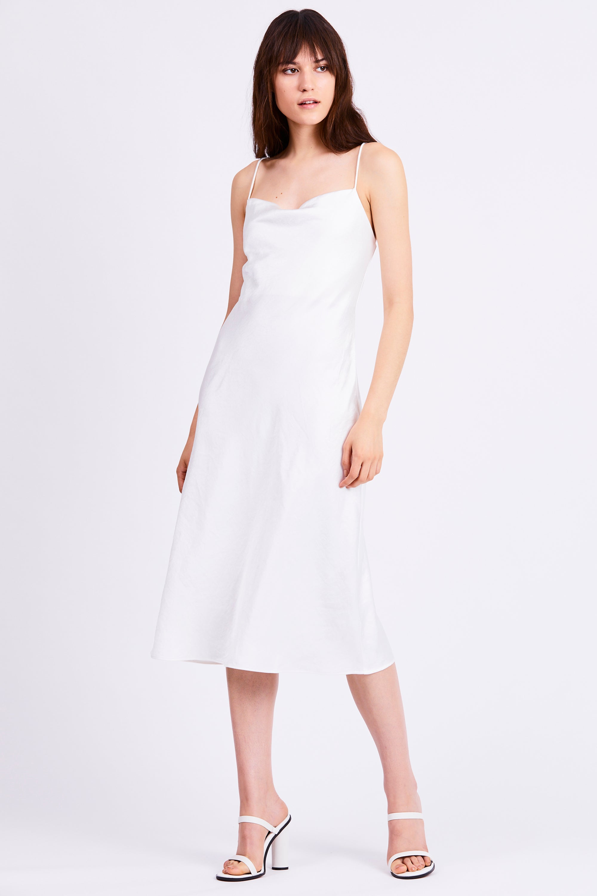 FINAL SAY BIAS SLIP DRESS | WHITE