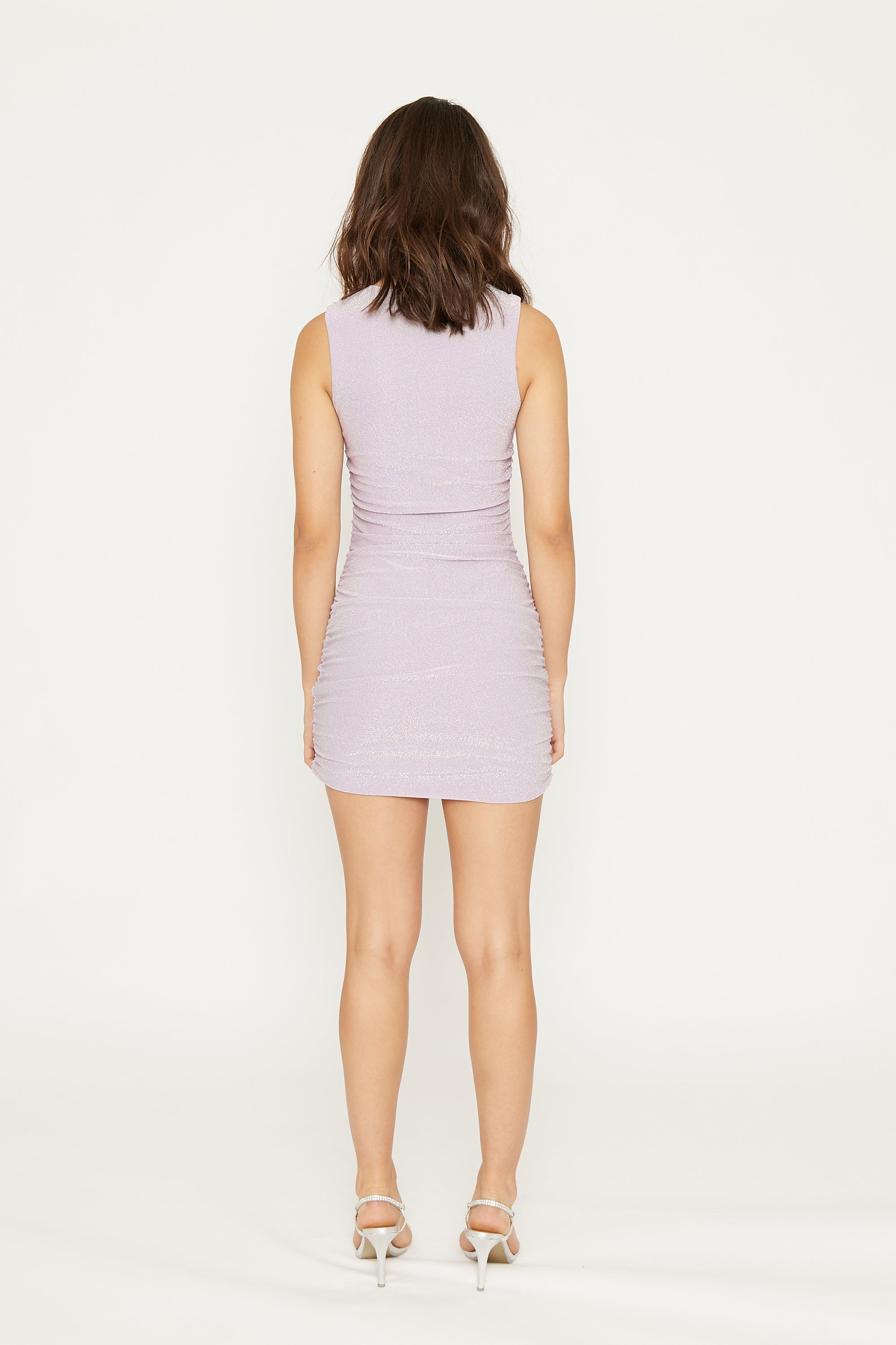 SHIMMER GATHER TANK MINI | LILAC