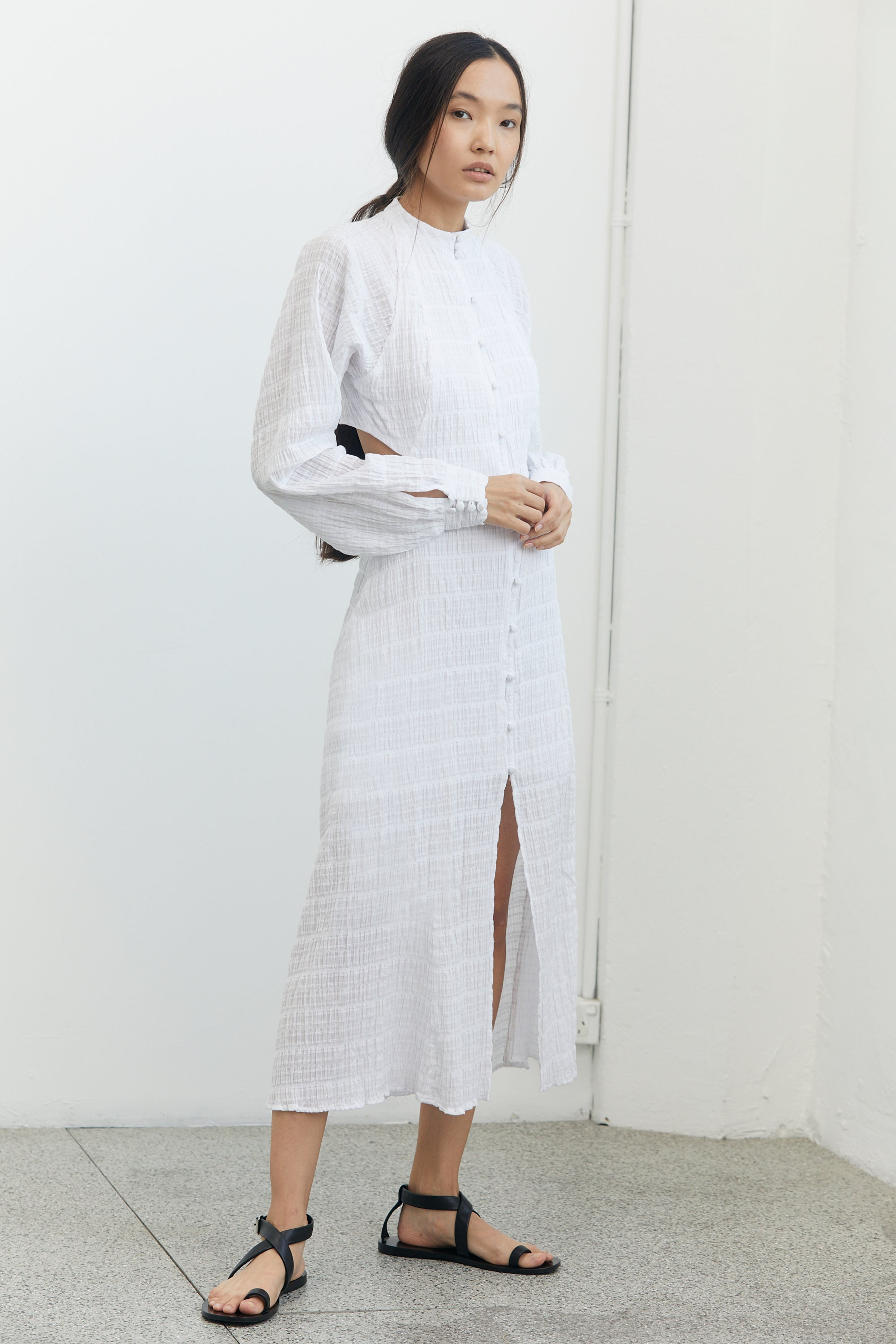 WHITEWASH MAXI DRESS | WHITE