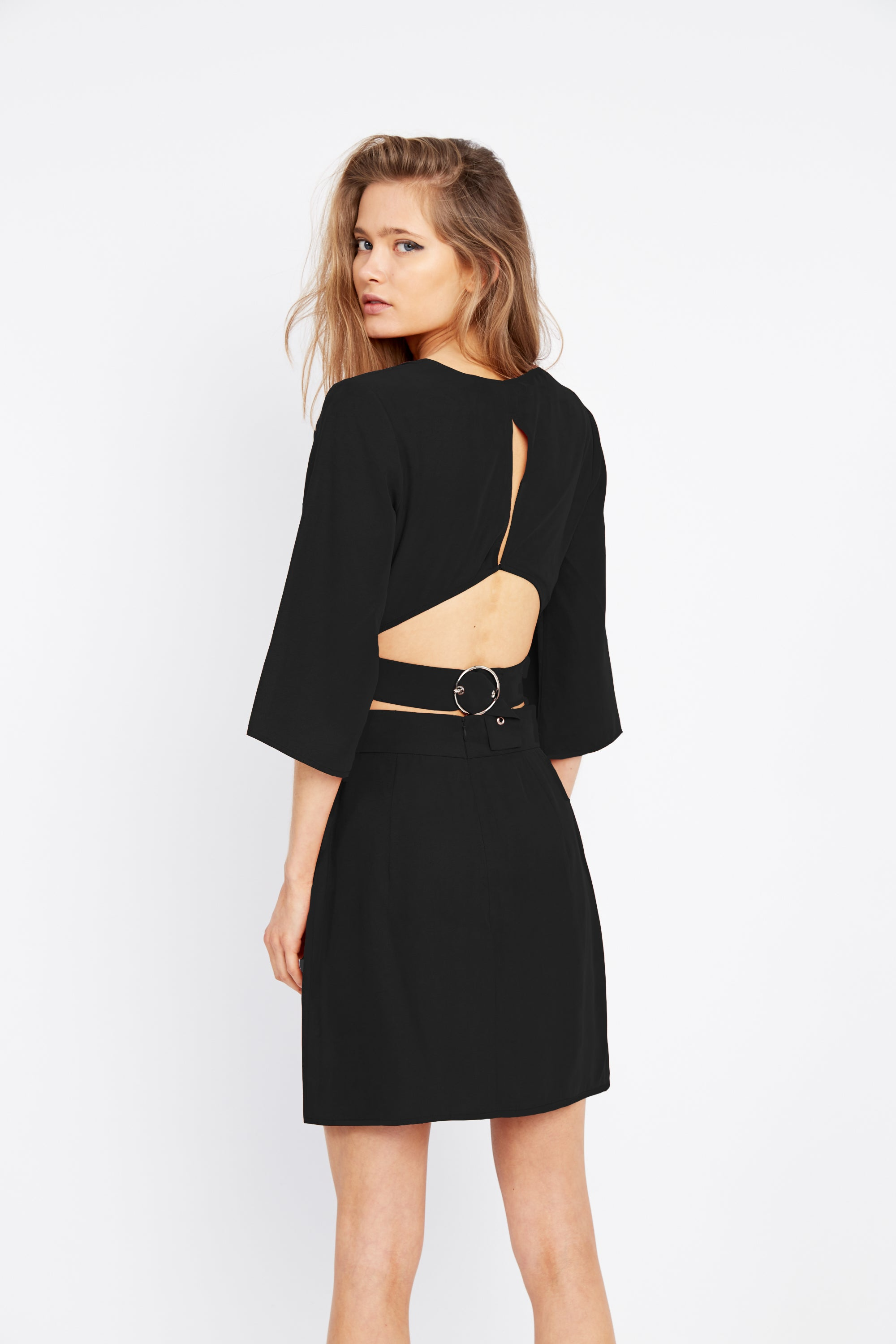 ECLIPSE WRAP MINI SKIRT | BLACK