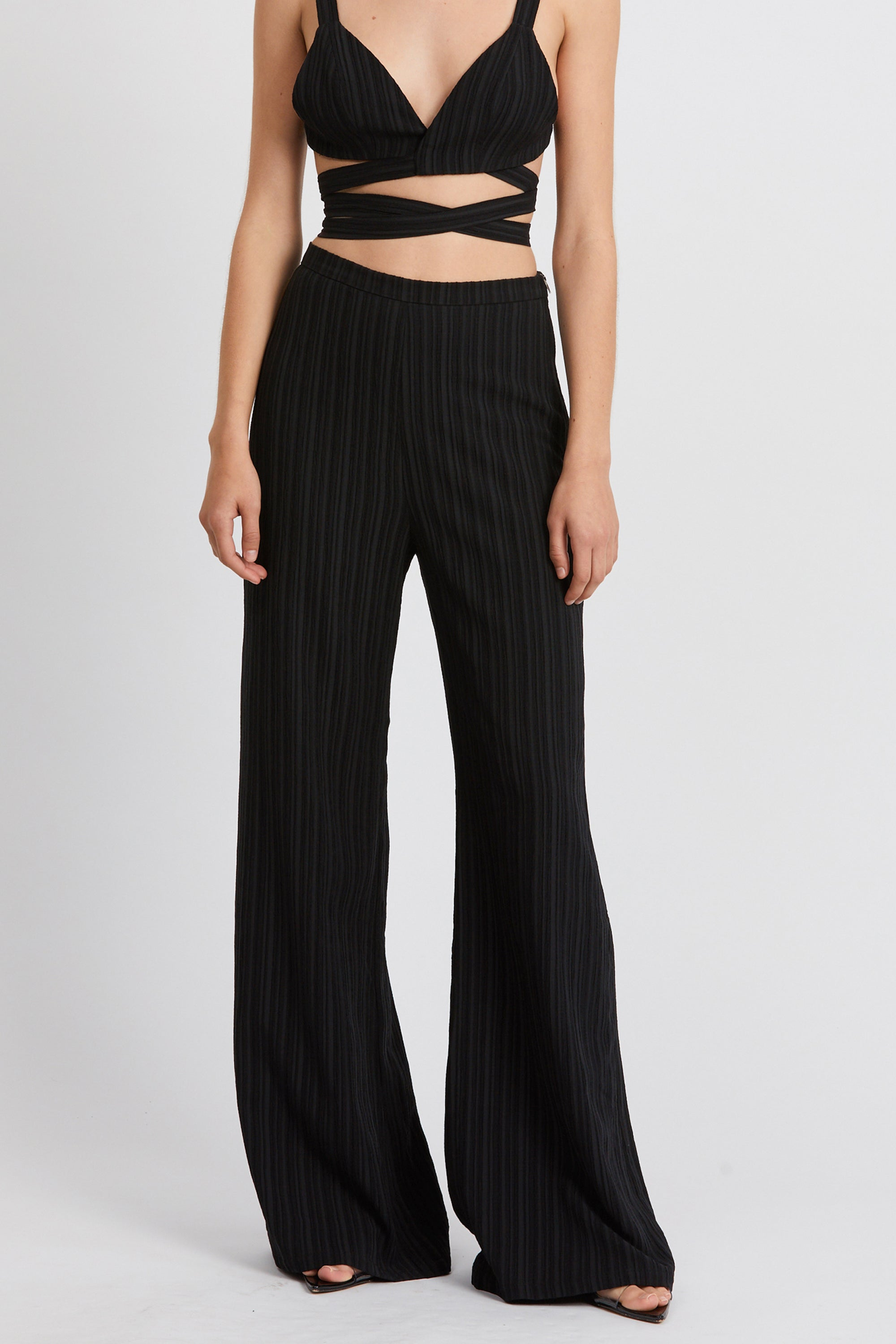 TIE DYE TROUSER | BLACK RIPPLE
