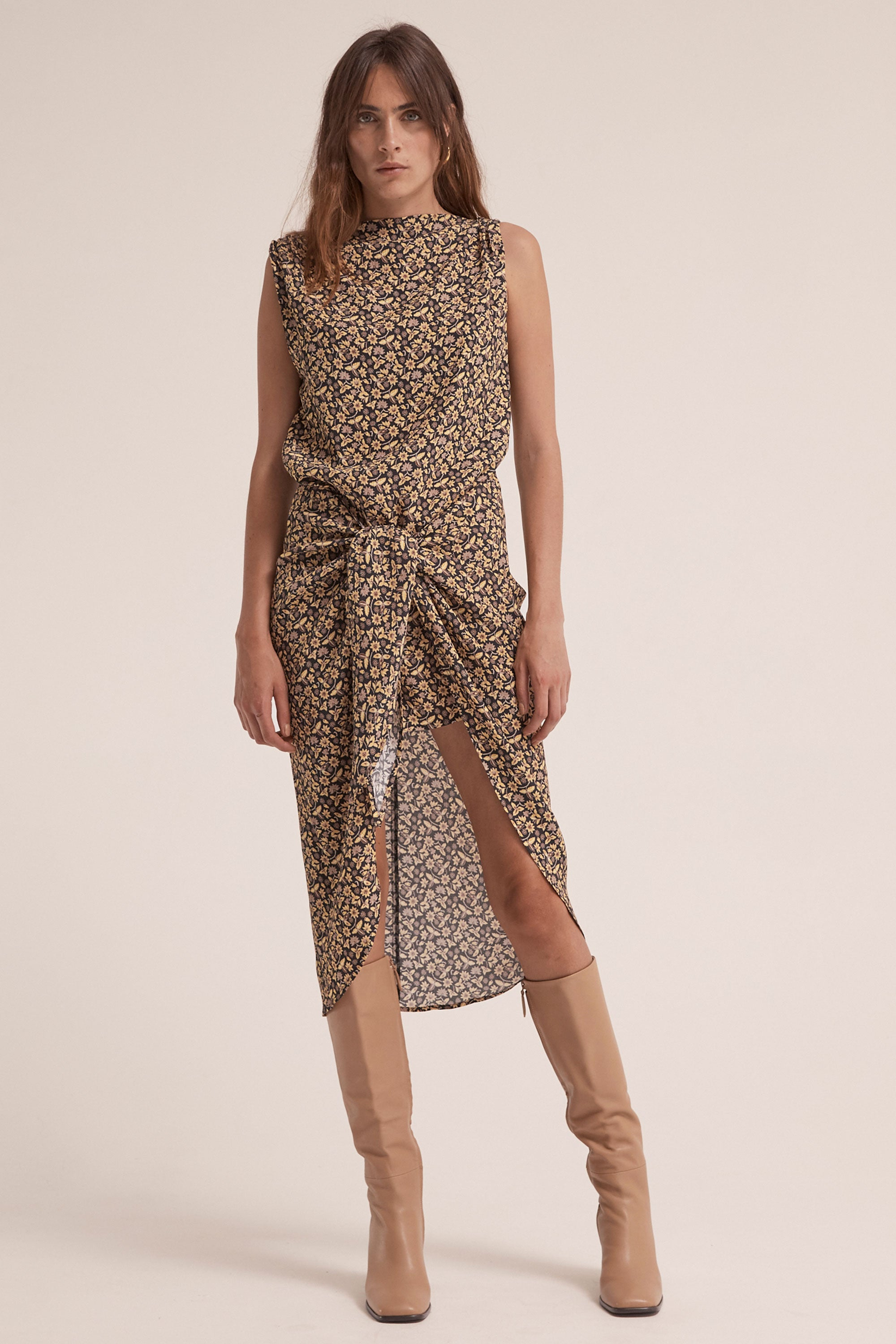 TAKE ME AWAY TIE MIDI DRESS | BATIK