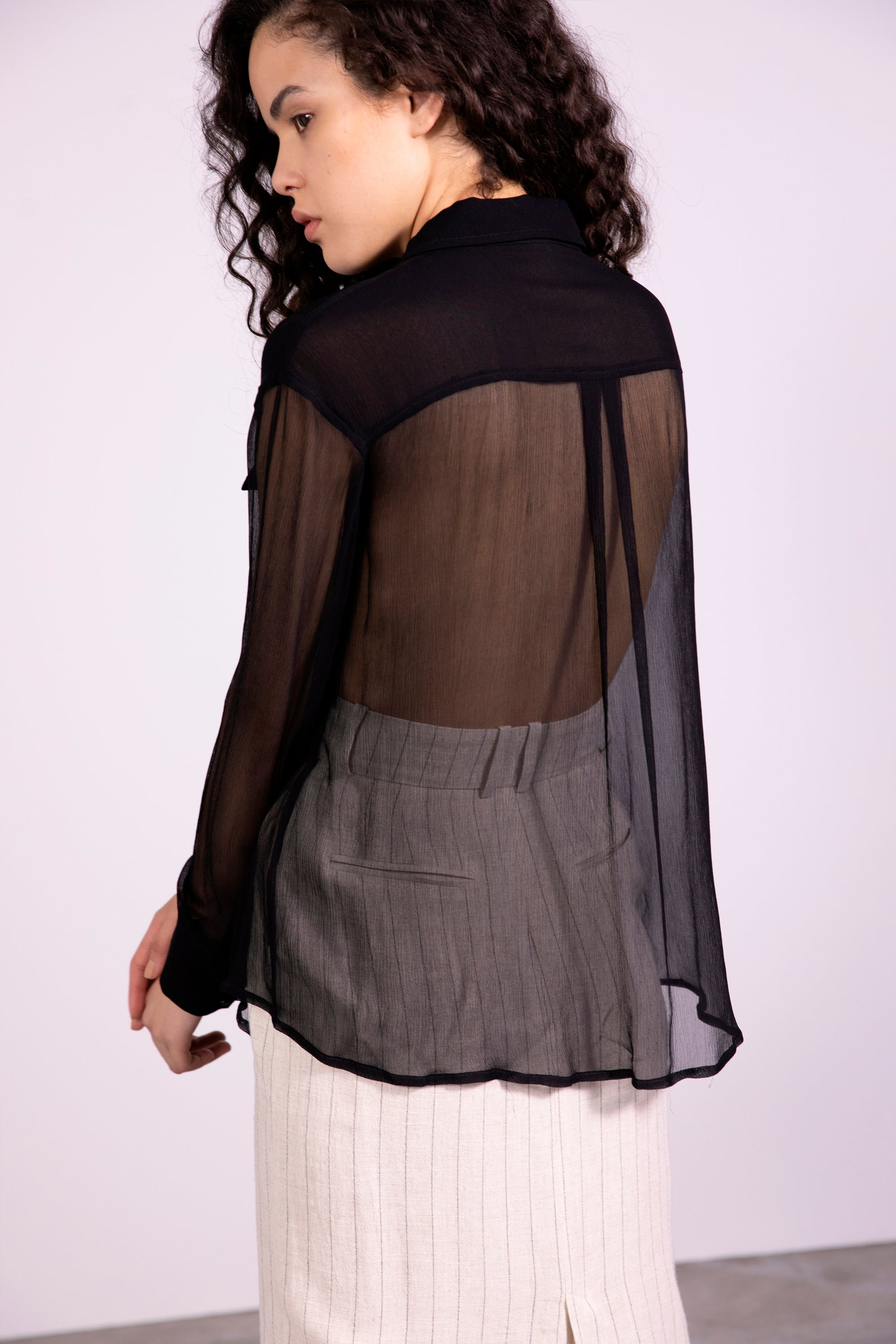 SHEER LOVE SHIRT | BLACK