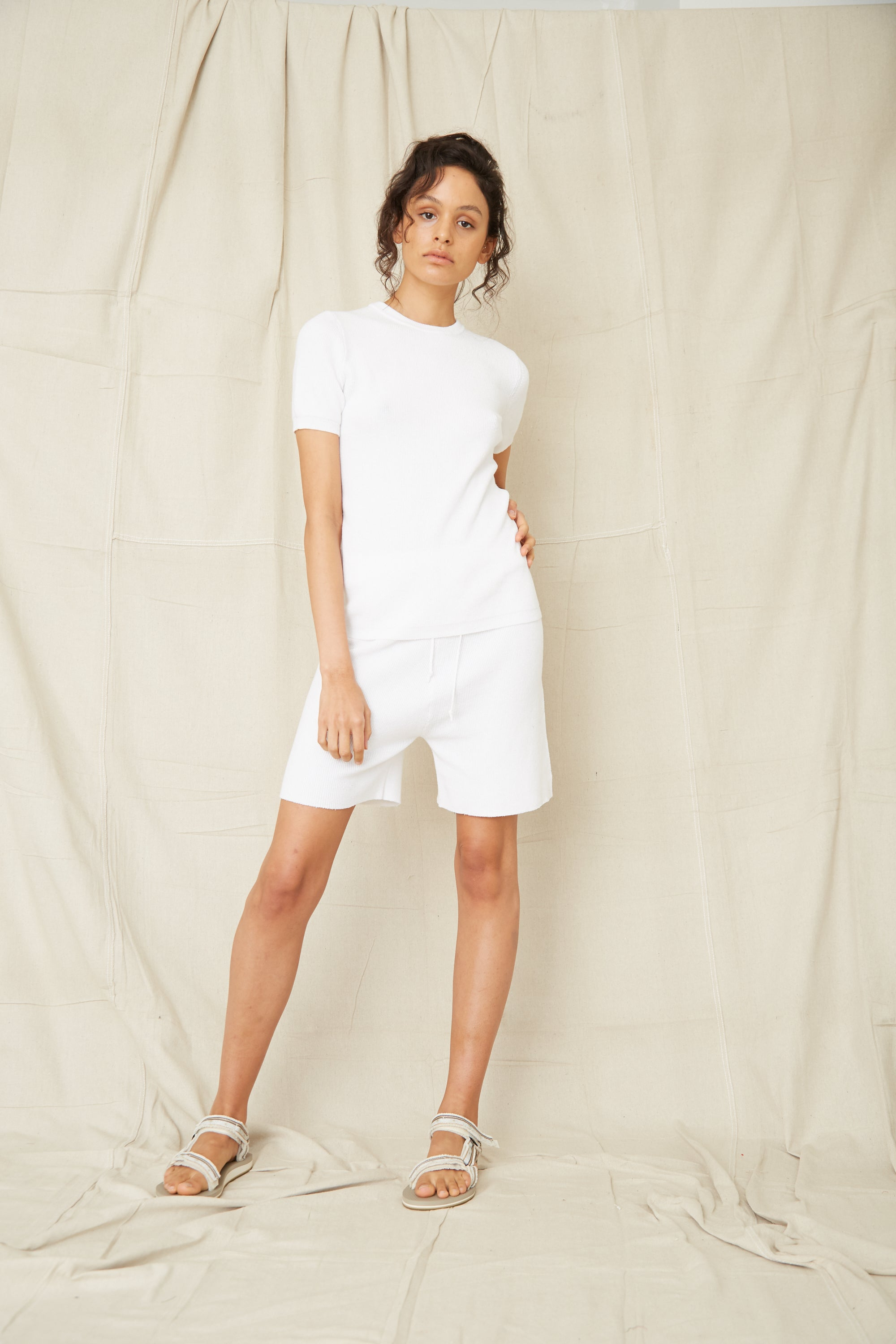 CAST AWAY KNIT RELAXED SHORT | OFF WHITE