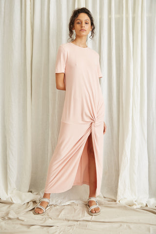 TWISTED TEE DRESS | ROSE