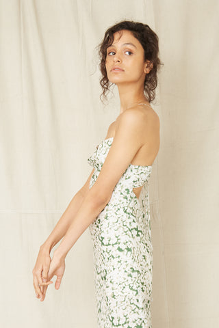 PRESSED FLOWERS BIAS SLIP DRESS | FLORAL